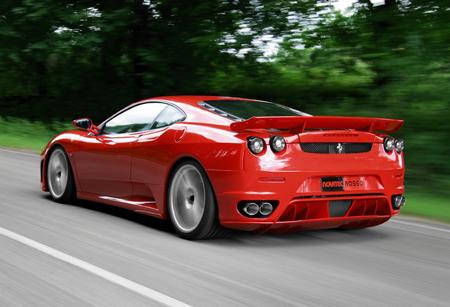 The actual Ferrari F430 Sports vehicle