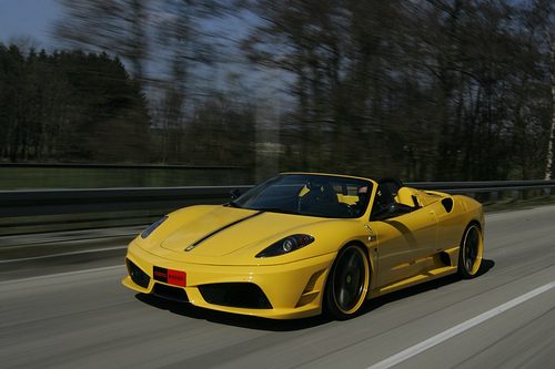 The actual Ferrari Scuderia Index 16M Sports vehicle