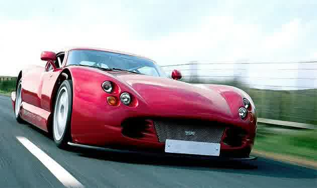 The actual TVR V8S Sports vehicle
