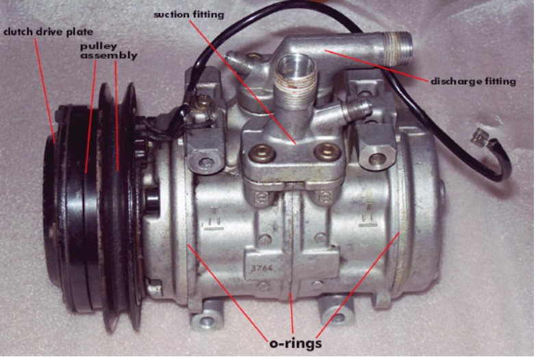 The actual Part of the Ac Compressor inside a Automobile