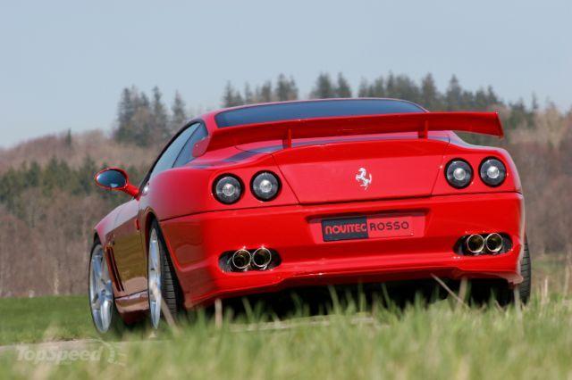 The actual Ferrari 550 Maranello Sports vehicle