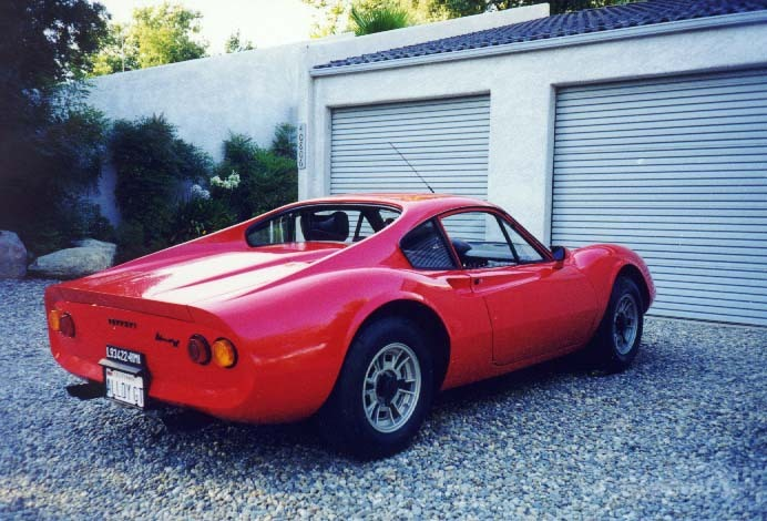 The actual Ferrari Dino 206 GT Sports vehicle